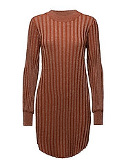 Birka Knit Dress - POTTERS CLAY