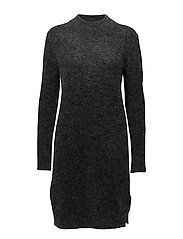 Brook Knit O-neck Dress - DARK GREY MELANGE
