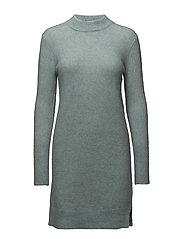 Brook Knit O-neck Dress - SILVER BLUE