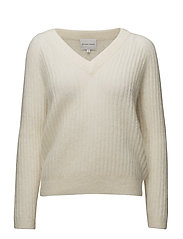 Alissa Knit V-neck - OFF WHITE