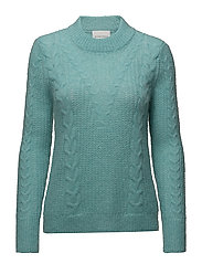 Emilie Knit O-neck - NILE BLUE