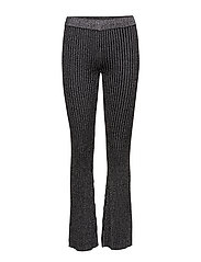 Moon Knit Trousers - BLACK