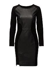 Elfes Leather Dress - BLACK