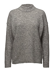 Brook Knit Loose O-neck - Grey melange