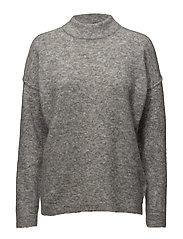Brook Knit Loose O-neck - Grey melange