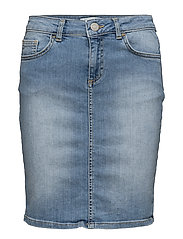 Mya Denim Skirt - Light blue denim