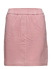 Adina Suede Skirt - Blush