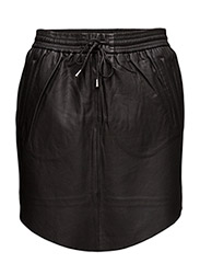 PRIL LEATHER SKIRT - BLACK