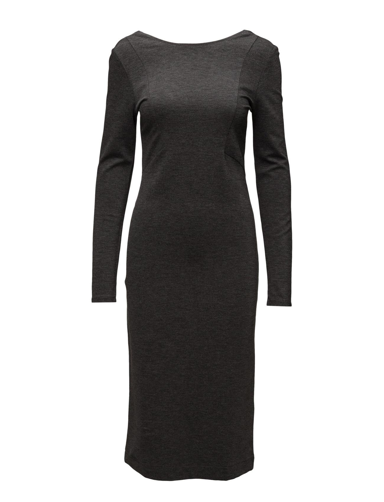 Sfsasha Ls Dress Selected Femme Knælange & mellemlange til Damer i Mørk grå