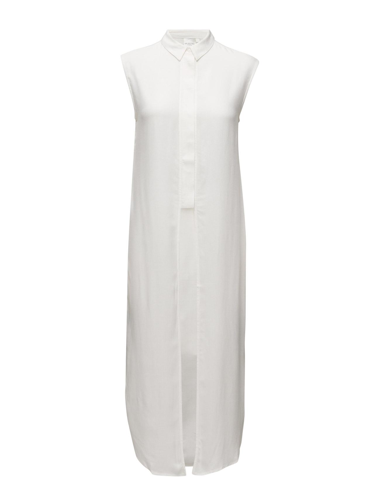 Sfkrisa Sl Long Shirt Ex Selected Femme ®rmeløse til Kvinder i Sne hvid