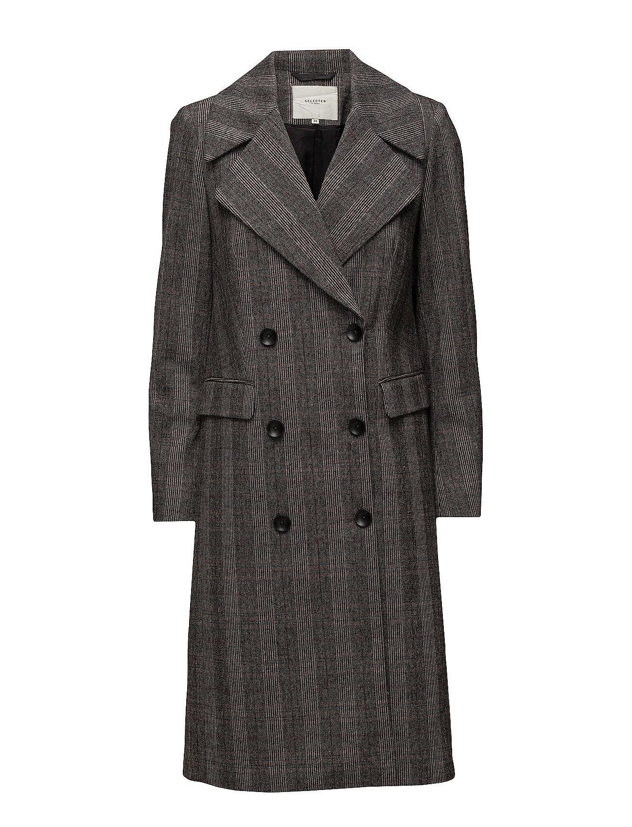 Sfmadison Ls Coat H Selected Femme Frakker til Damer i Røget Pearl