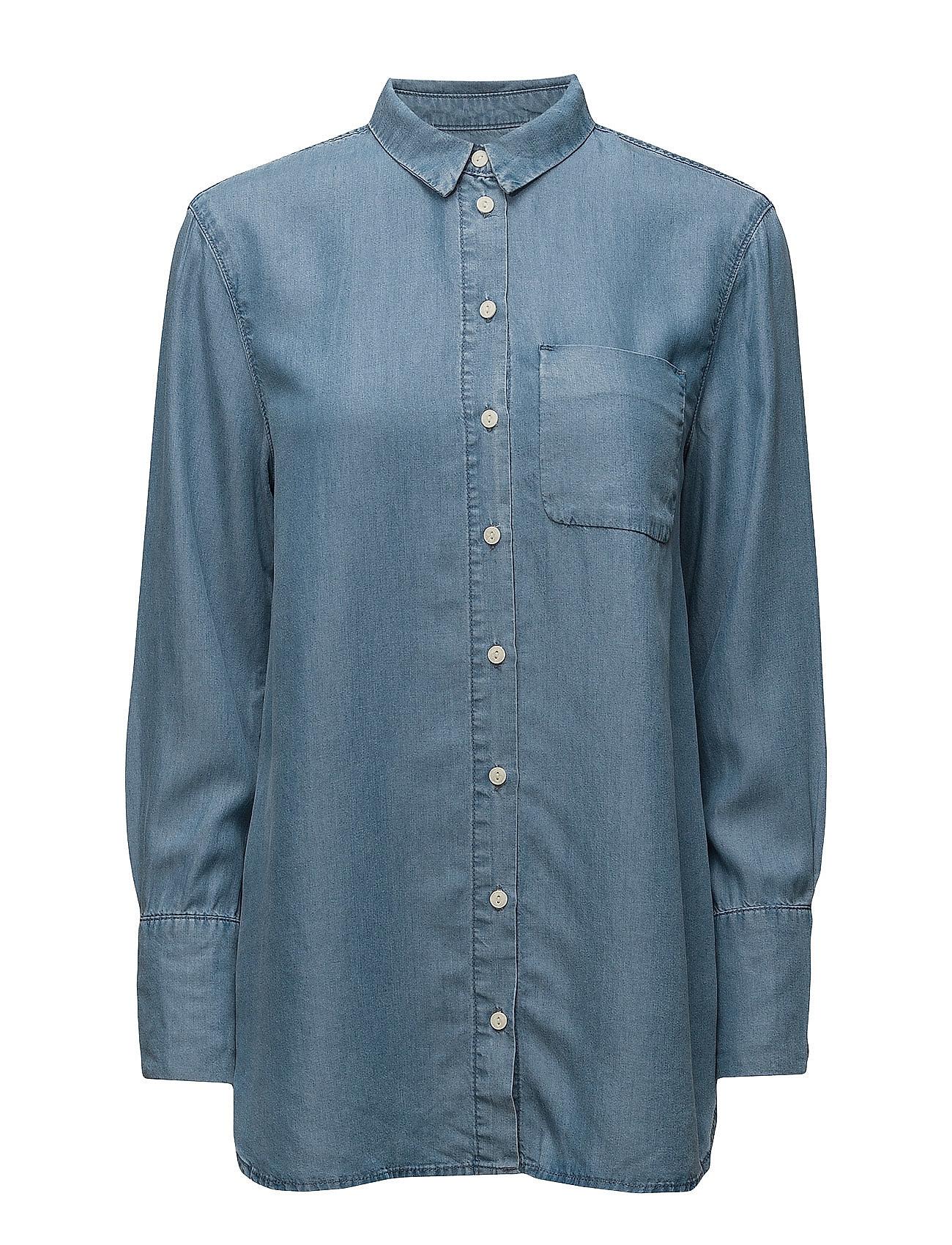 Sfdahrma Ls Denim Shirt Selected Femme Langærmede til Damer i