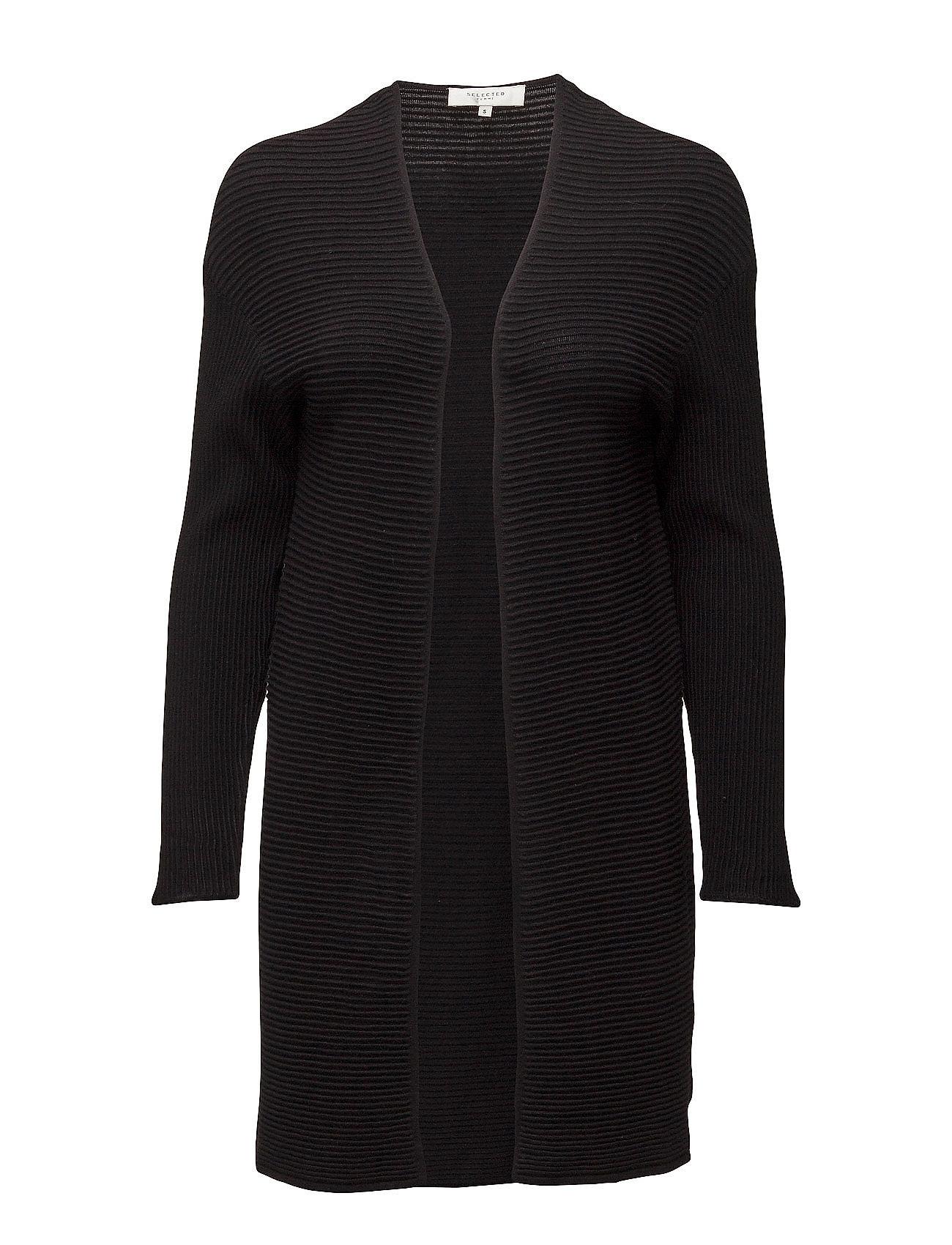 Sfaura Ls Knit Cardigan Selected Femme Cardigans til Damer i Sort