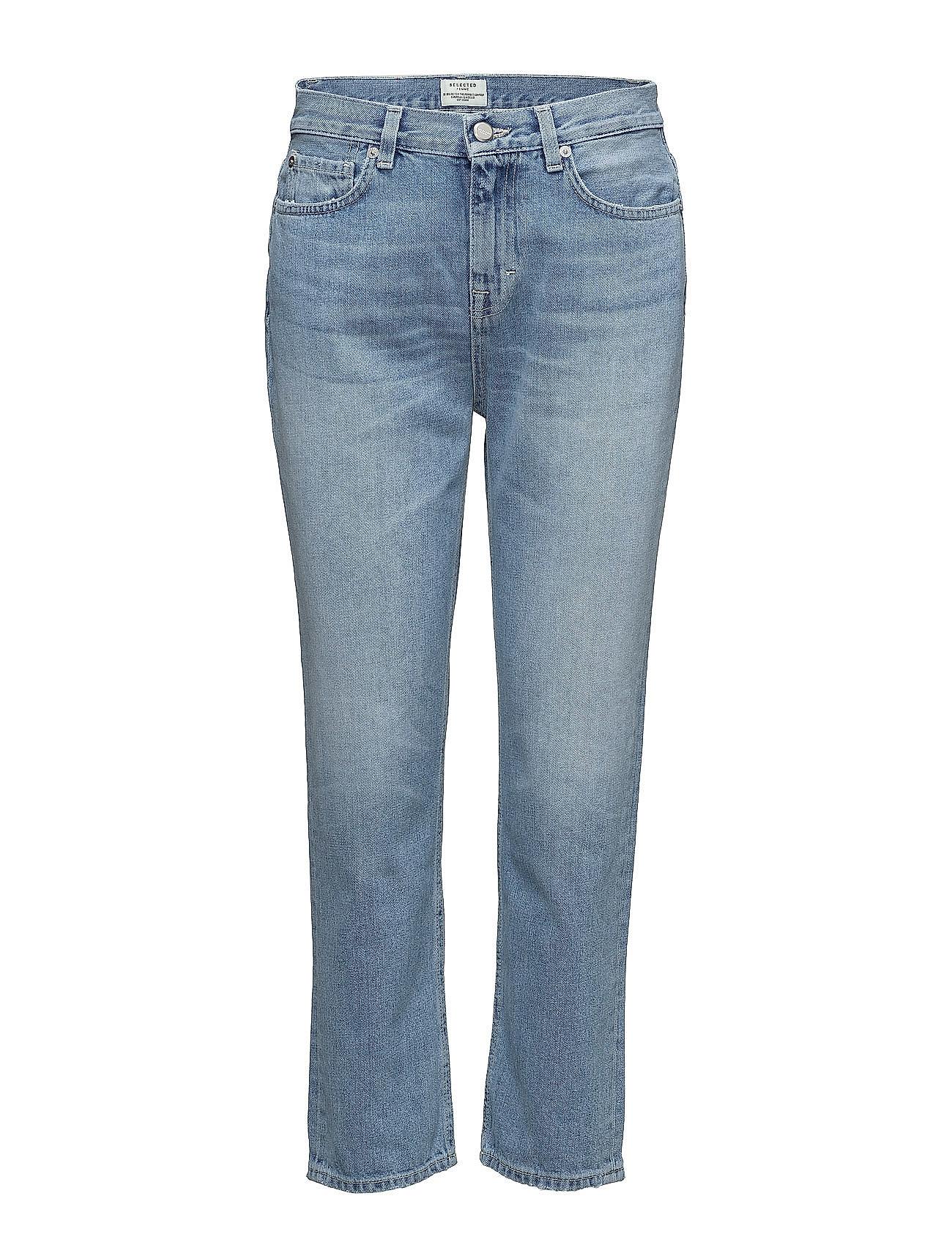 Sfnoa Mr Crop Boyfriend Bright Authentic Selected Femme Jeans til Kvinder i