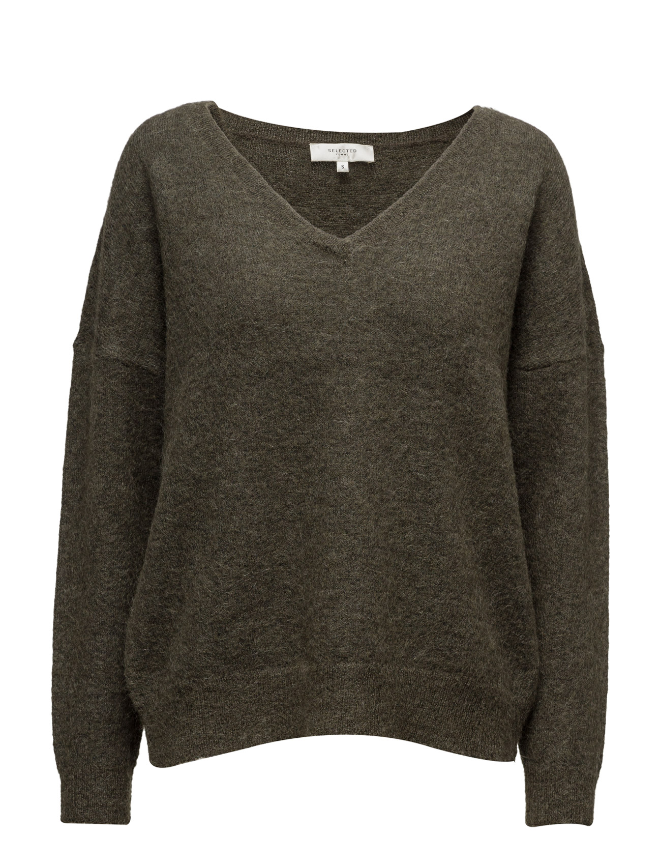 Sflivana Ls Knit V-Neck Noos Selected Femme Sweatshirts til Damer i