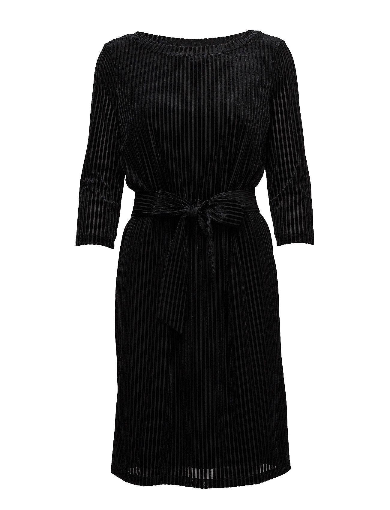 Sfmarla Ls Dress Ex Selected Femme Knælange & mellemlange til Damer i Sort