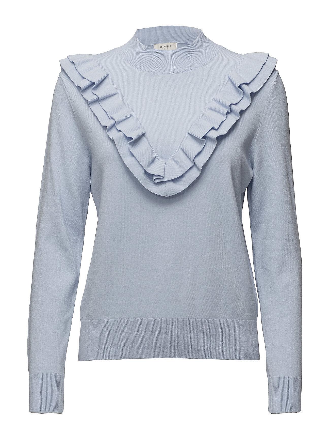 Sfaddi Ls Knit Cashmere Pullover Ex Selected Femme Sweatshirts til Damer i