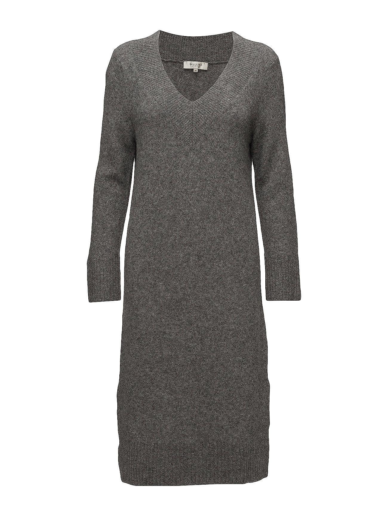 Sfjamia Ls Knit Deep V-Neck Dress Selected Femme Dresses thumbnail