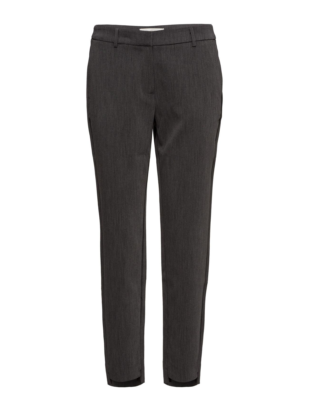 Sfamila Mw Pant Noos Selected Femme Bukser til Damer i Mørk grå