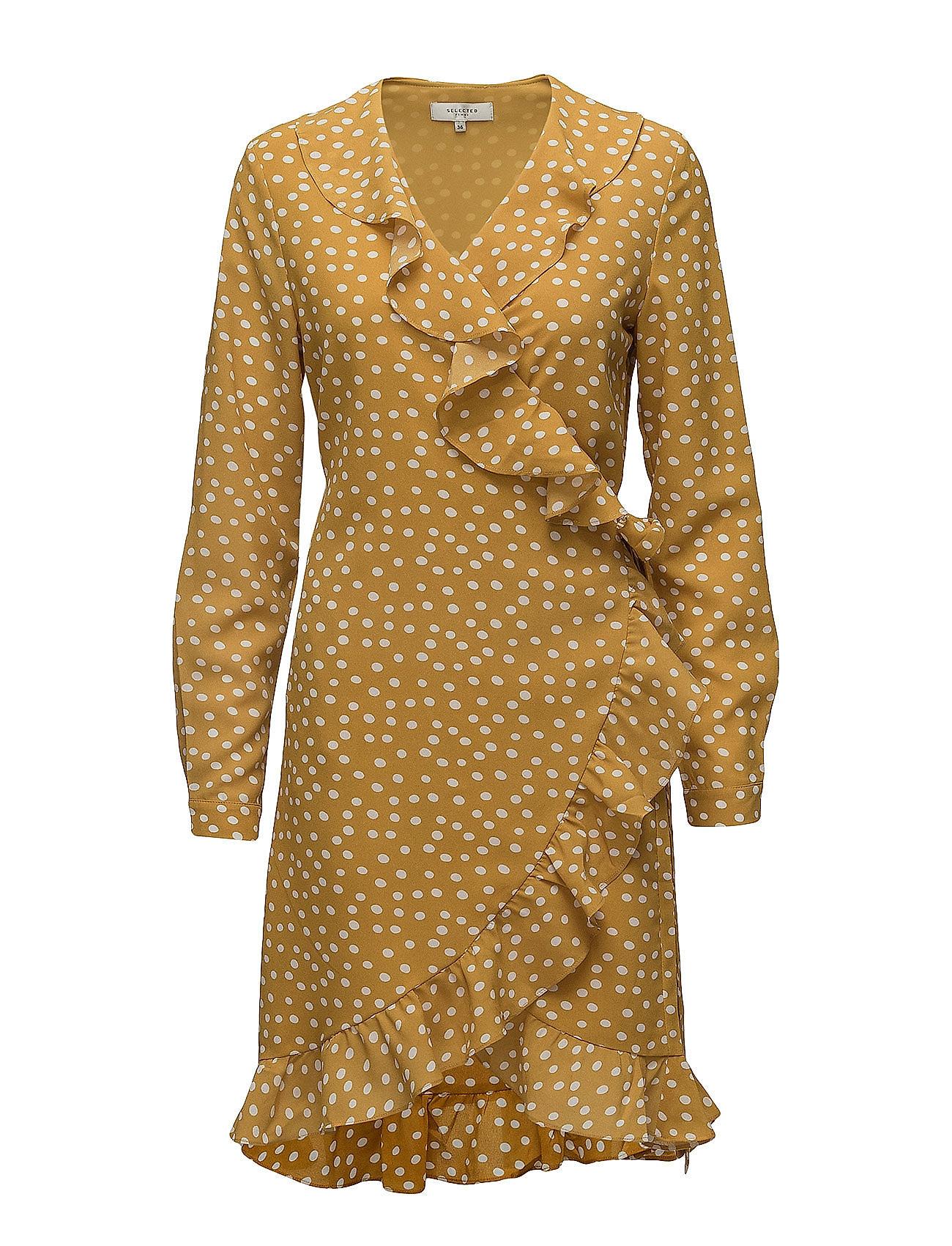 Sfchanie Ls Wrap Dress Rt