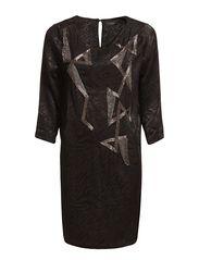 TALI 3/4 SHORT DRESS A - Black