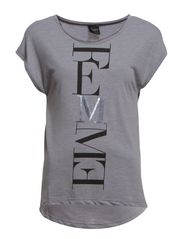 DENNI SS TEE - Medium Grey Melange