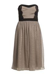 BALLERINA CORSAGE DRESS - Cobble stone