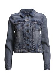 SHARIN DENIM JACKET FJ - Medium Blue Denim