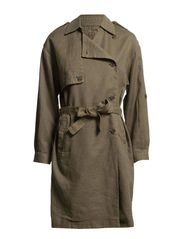 TENNE LONG TRENCH COAT FJ - Teak