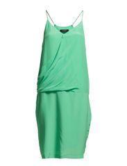 WINNA STRAP SILK DRESS F - Irish Green
