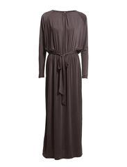 MOON LS MAXI DRESS F - Shale