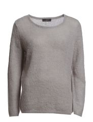 CHLOE LS KNIT PULLOVER F - Light Grey Melange