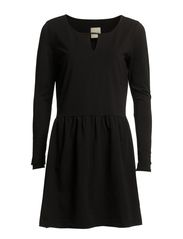 SOFIA LS SMOCK DRESS FJ-EX - Black