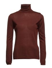 COSTA LS TURTLENECK F - Bitter Chocolate