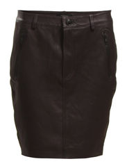 RUST MW LEATHER SKIRT - Black