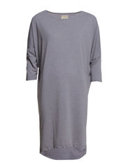 GENOVA 3/4 OVERSIZE DRESS FJ - Medium Grey Melange
