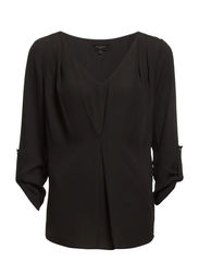 LINNEA 3/4 SLEEVE TOP F - Black