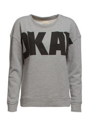 OKAY LS SWEAT - FJ - Light Grey Melange
