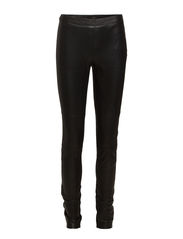 MOONI MW LEATHER PANTS - Black