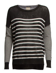 SFSTEPHY LS KNIT PULLOVER FJ - Black