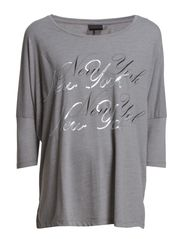SFDENNI 3/4 TOP - NEWYORK - Medium Grey Melange