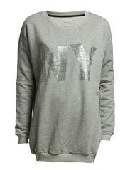 SFEIGHT LS SWEAT - NY - Medium Grey Melange
