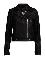 SFROXIE LS LEATHER JACKET - Black