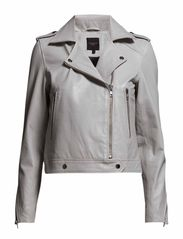 SFROXIE LS LEATHER JACKET - Lunar Rock