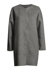 SFELISA LS COAT - Medium Grey Melange