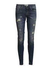 SFROBERTA LW JEANS - MAMBO BRAKE - Medium Blue Denim