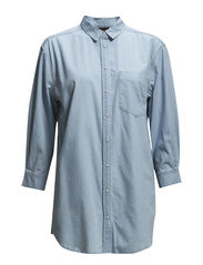 SFCRISPERS 7/8 DENIM SHIRT- FJ - Light Blue Denim