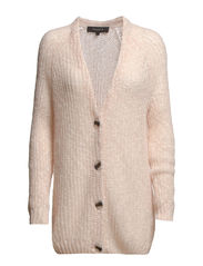 SFLAUNA LS KNIT CARDIGAN EX - Peach Blush
