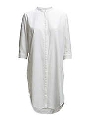 SFNADJA 3/4 KAFTAN DRESS - FJ - Bright White