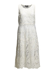 SFBENIA SL LACE DRESS F - White